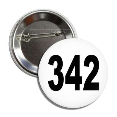 number 342 white black button