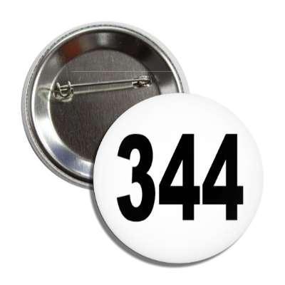 number 344 white black button