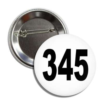 number 345 white black button