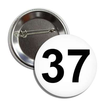 number 37 white black button