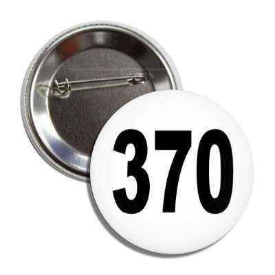 number 370 white black button