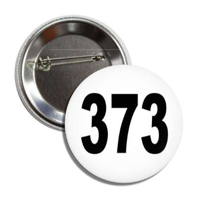 number 373 white black button