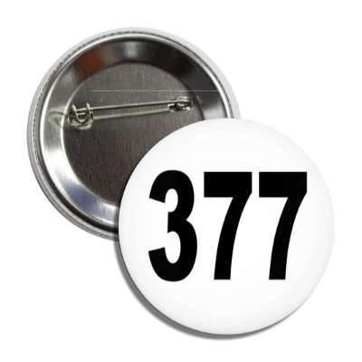 number 377 white black button