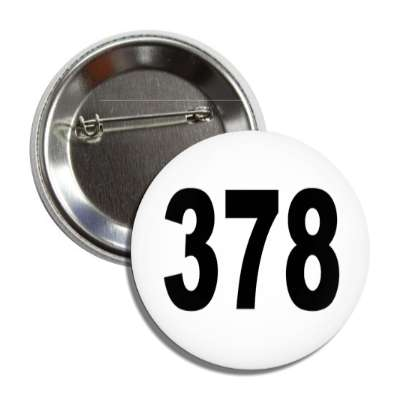 number 378 white black button