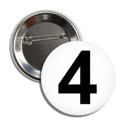 number 4 white black button