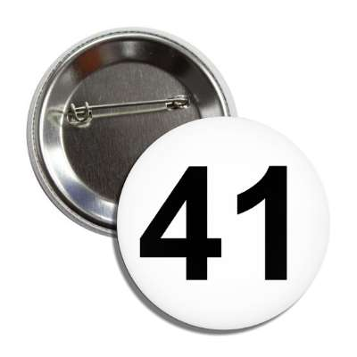 number 41 white black button