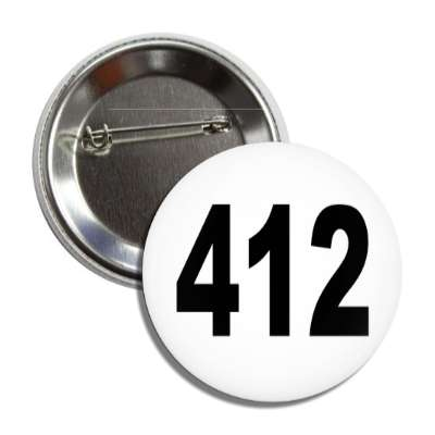 number 412 white black button