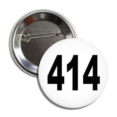 number 414 white black button