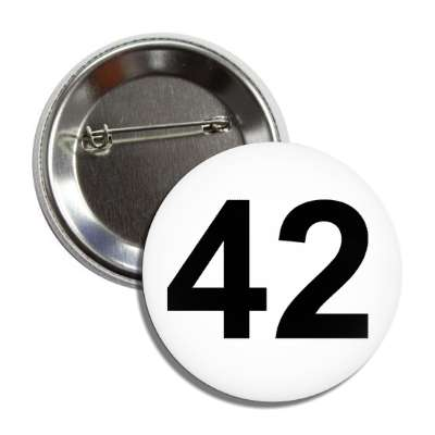 number 42 white black button