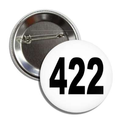 number 422 white black button