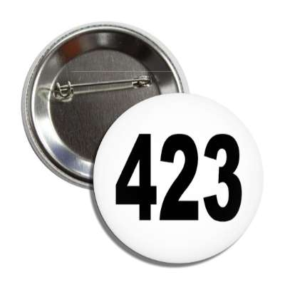 number 423 white black button