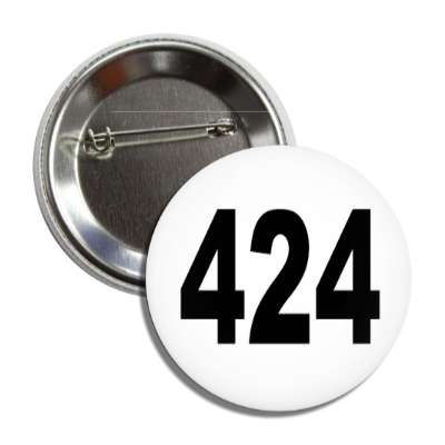 number 424 white black button