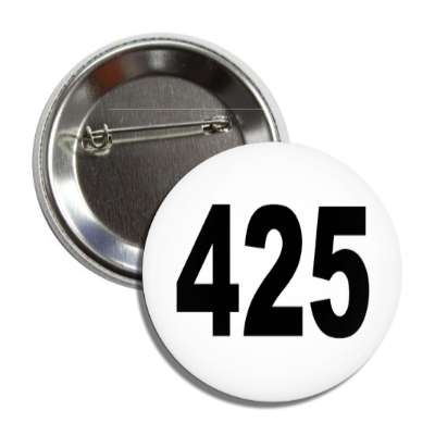 number 425 white black button