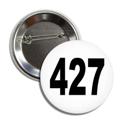 number 427 white black button