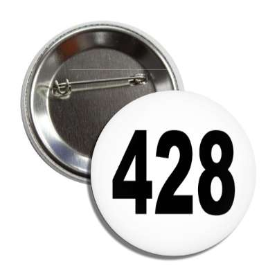 number 428 white black button