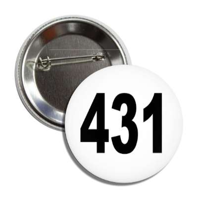 number 431 white black button