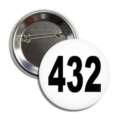number 432 white black button