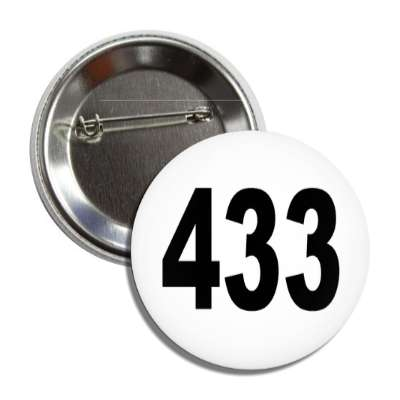 number 433 white black button