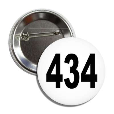 number 434 white black button