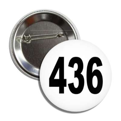 number 436 white black button