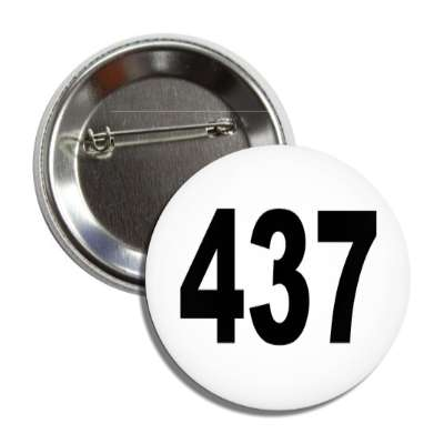 number 437 white black button