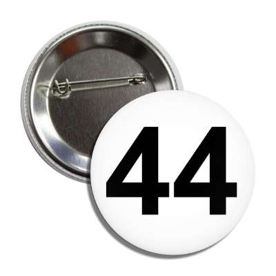 number 44 white black button