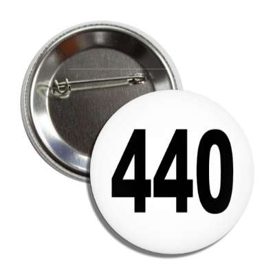 number 440 white black button