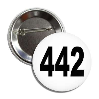 number 442 white black button