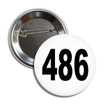 number 486 white black button