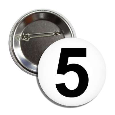 number 5 white black button
