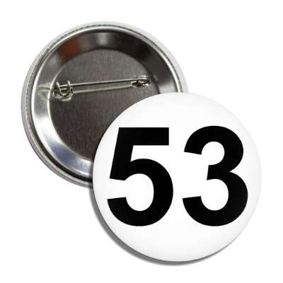 number 53 white black button