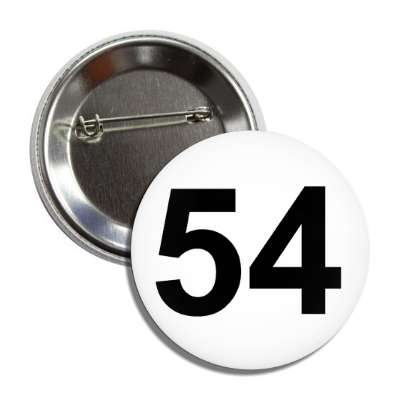 number 54 white black button