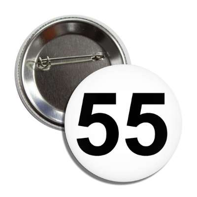 number 55 white black button