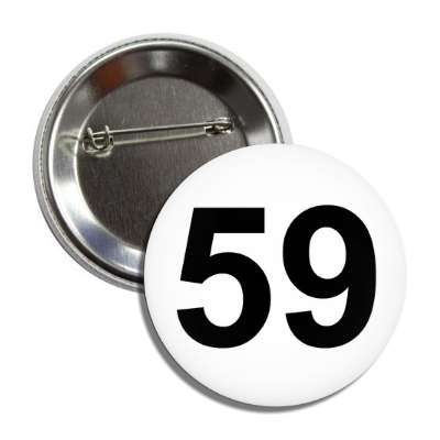 number 59 white black button