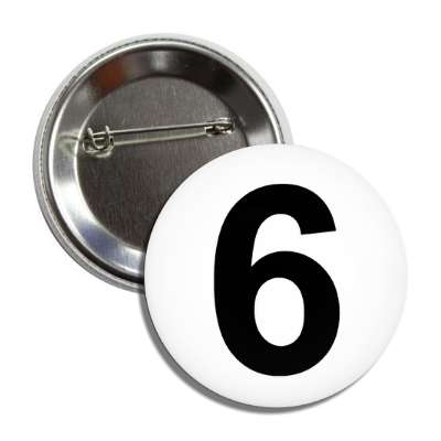 number 6 white black button