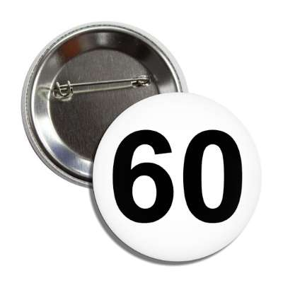 number 60 white black button