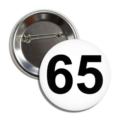 number 65 white black button