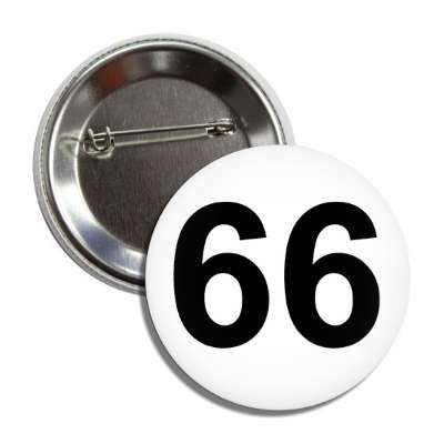 number 66 white black button