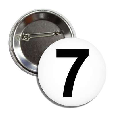 number 7 white black button