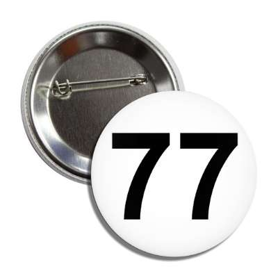 number 77 white black button