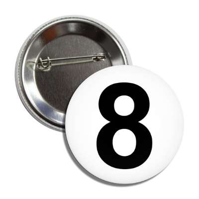 number 8 white black button