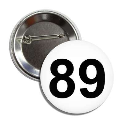 number 89 white black button