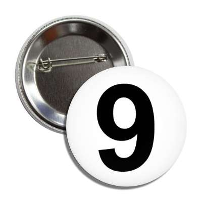 number 9 white black button