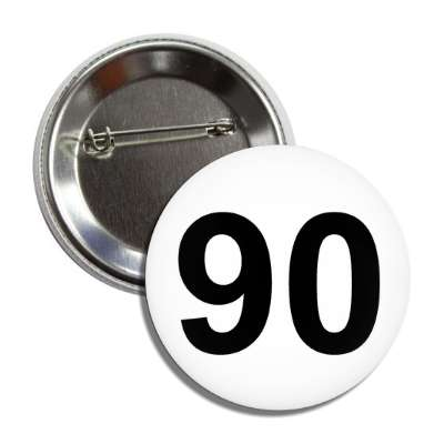 number 90 white black button