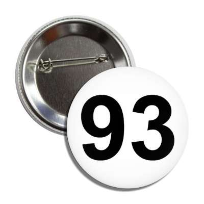 number 93 white black button