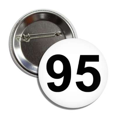 number 95 white black button