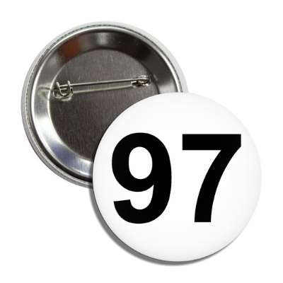 number 97 white black button