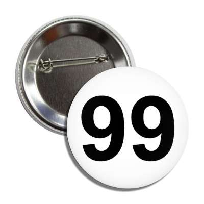 number 99 white black button