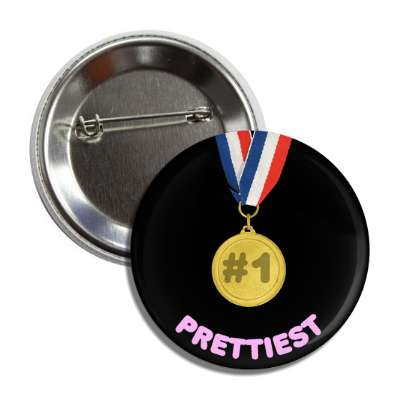 number one prettiest medallion button