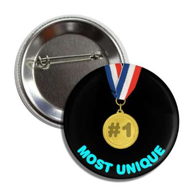 number one unique medallion button
